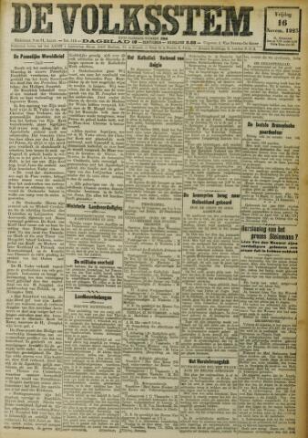 De Volksstem 1923-11-16