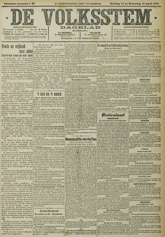 De Volksstem 1914-04-14