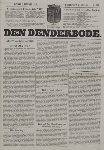 De Denderbode 1859-01-09