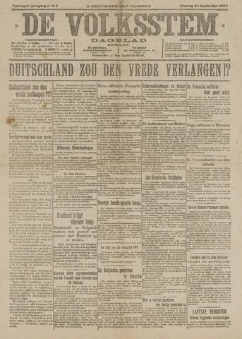 De Volksstem 1914-09-22