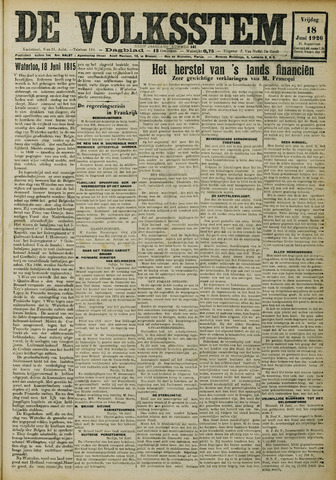 De Volksstem 1926-06-18