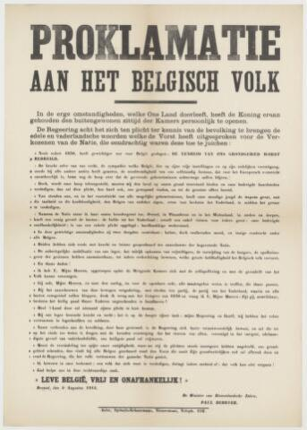 Tekstaffiches 1914