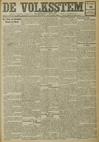 De Volksstem 1926-12-22