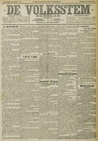 De Volksstem 1914-04-03