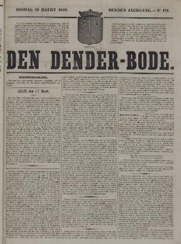 De Denderbode 1849-03-18
