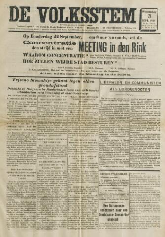 De Volksstem 1938-09-21