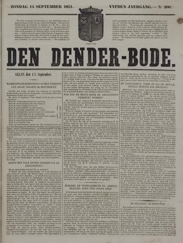 De Denderbode 1851-09-14