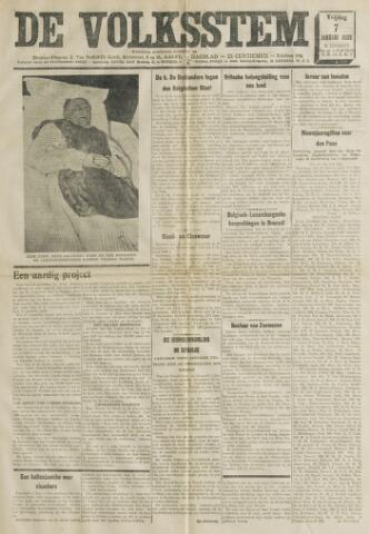De Volksstem 1938-01-07
