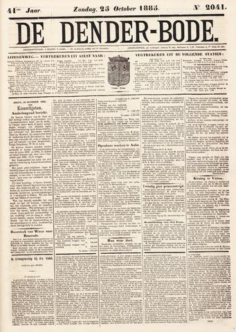 De Denderbode 1885-10-25