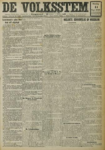 De Volksstem 1926-09-14
