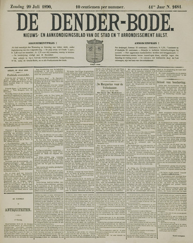 De Denderbode 1890-07-20