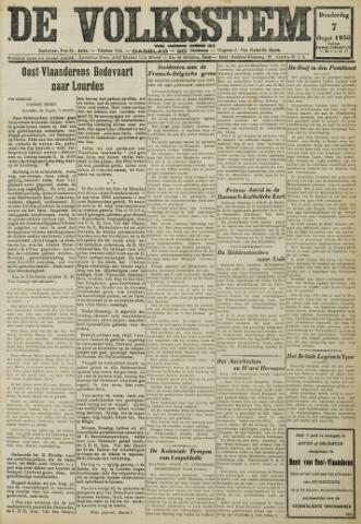 De Volksstem 1930-08-07