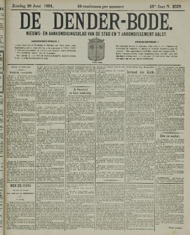 De Denderbode 1891-06-28