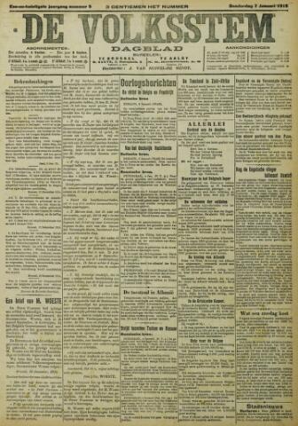 De Volksstem 1915-01-07