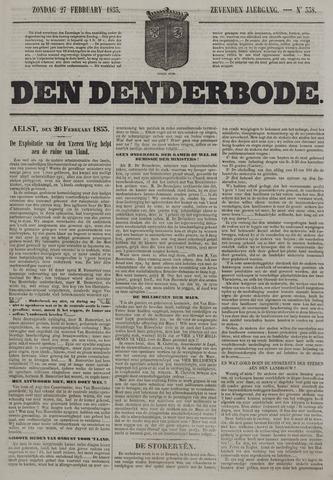 De Denderbode 1853-02-27