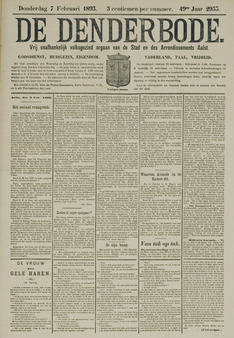 De Denderbode 1895-02-07