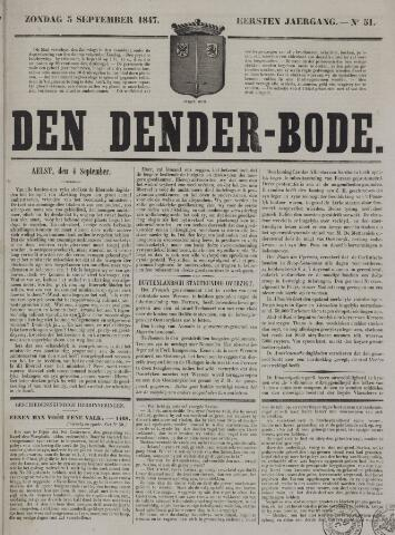 De Denderbode 1847-09-05