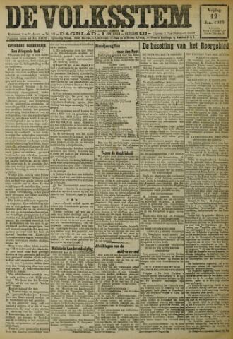 De Volksstem 1923-01-12