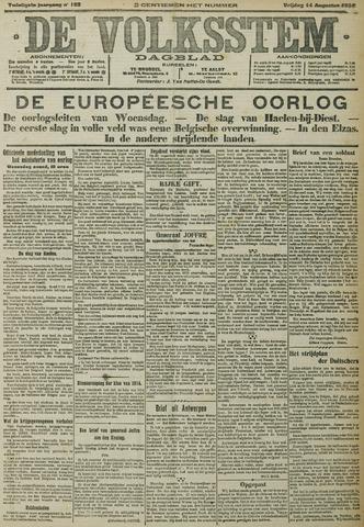 De Volksstem 1914-08-14