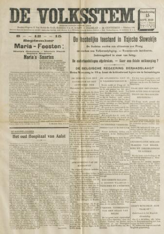 De Volksstem 1938-09-15