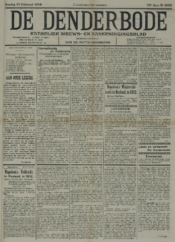 De Denderbode 1916-02-13