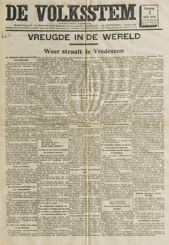 De Volksstem 1938-10-02