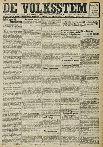 De Volksstem 1926-07-29
