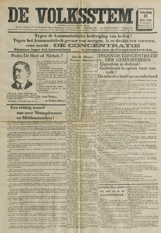 De Volksstem 1938-10-15