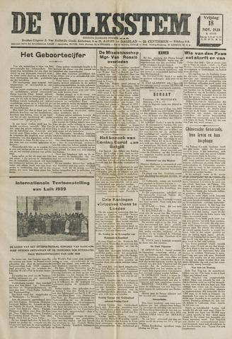 De Volksstem 1938-11-18