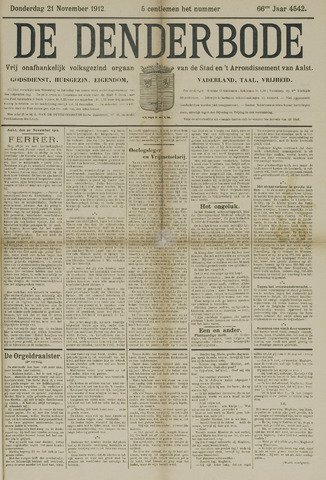 De Denderbode 1912-11-21