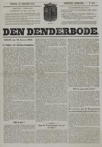 De Denderbode 1854-08-13
