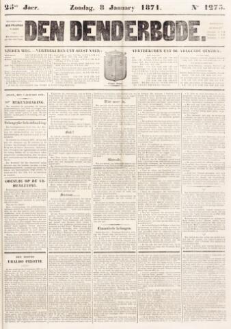 De Denderbode 1871-01-08