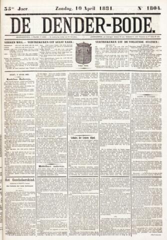 De Denderbode 1881-04-10
