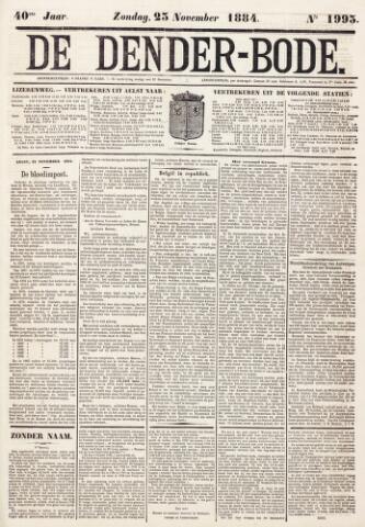 De Denderbode 1884-11-23