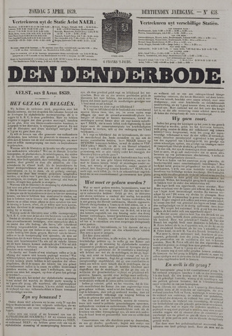 De Denderbode 1859-04-03