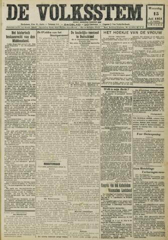 De Volksstem 1931-07-15