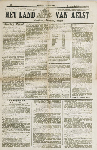 Het Land van Aelst 1881-10-09