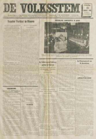 De Volksstem 1938-01-15