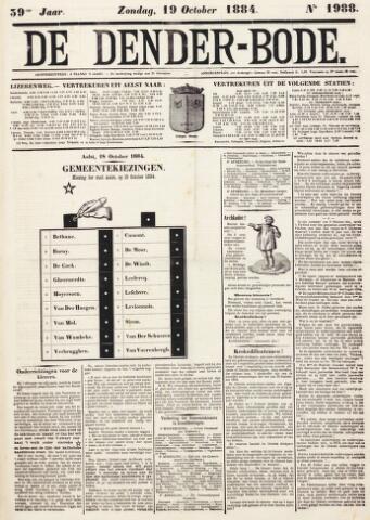 De Denderbode 1884-10-19
