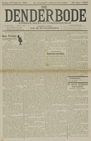 De Denderbode 1915-09-19