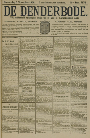 De Denderbode 1896-11-05