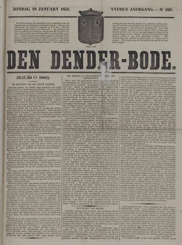 De Denderbode 1851-01-19