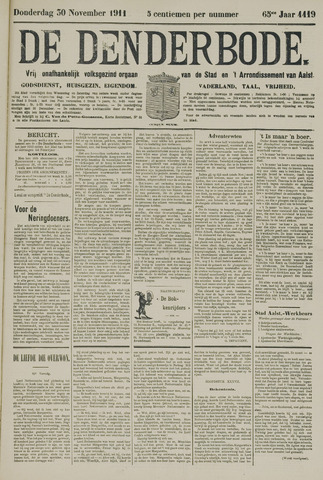 De Denderbode 1911-11-30