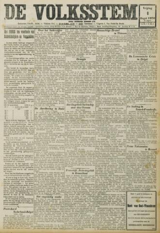 De Volksstem 1930-08-01
