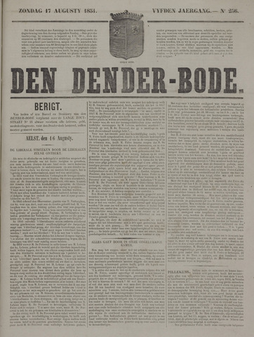 De Denderbode 1851-08-17