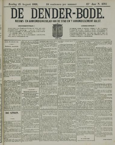 De Denderbode 1891-08-23