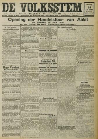 De Volksstem 1926-07-24