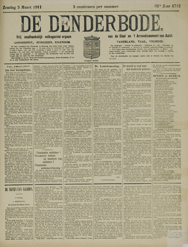 De Denderbode 1911-03-05