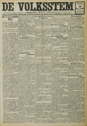 De Volksstem 1926-03-16