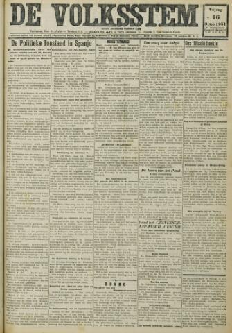 De Volksstem 1931-10-16